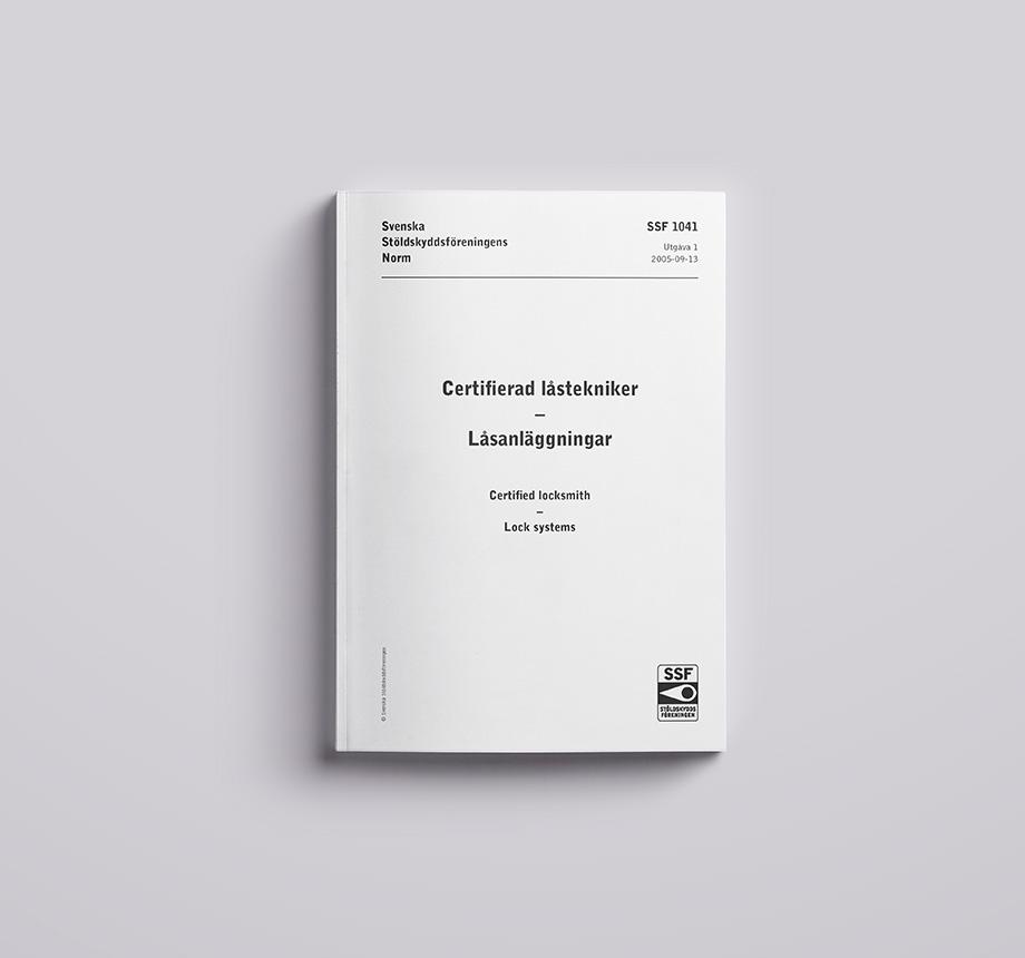 SSF 1041 01 Certifierad låstekniker