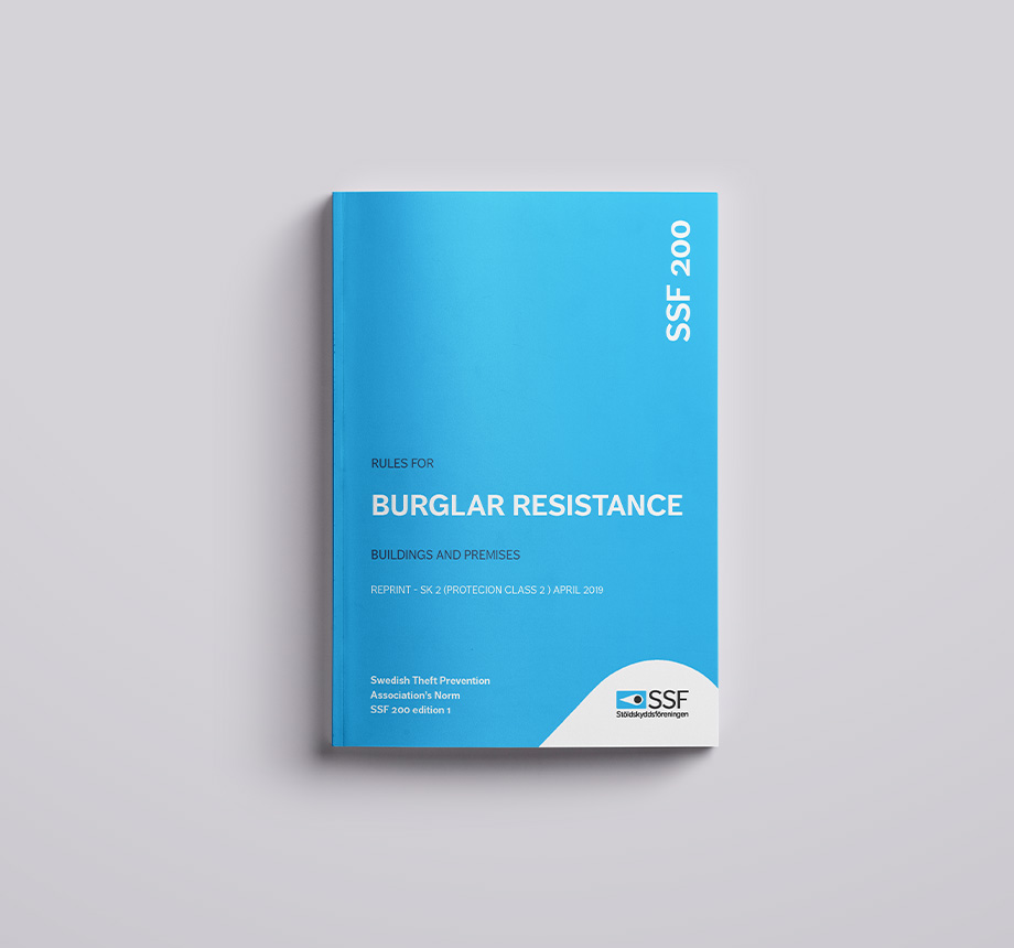 SSF 200 – SK 2 Edition 1, Rules for burglar resistance – Buildings and premises Reprint protection class 2