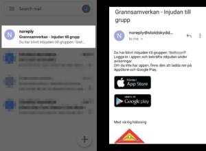 Grannsamverkans appen - instruktioner